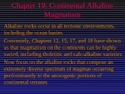 Ch19-Continental Alkaline Magmatism