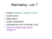 lecture2 - constructors and destructors