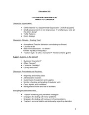 Copy of Ed 202 Classroom observations - theories