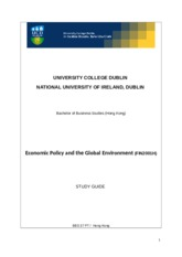 BBS 37 Economic Policy and Global Environment Study Guide