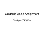 Guideline About Assignment v3