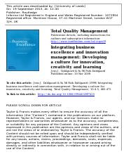 9 - Integrating business exellence and innovation management.pdf
