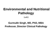Environmental and Nutritional Pathology Part 1 of 2