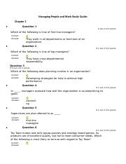 Managing People and Work Study Guide Test 1