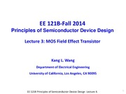 EE121B 2014F Lecture 4-MOSFET-updated