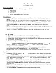 Class Notes 13