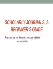 Guide to Scholarly Journals .pptm