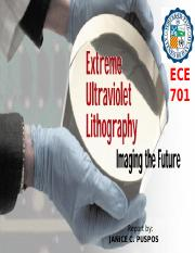 Extreme Ultraviolet Lithography PPT