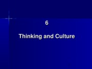 6. Thinking and Culture