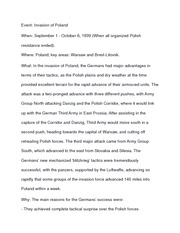 History 12 Invasion of Poland notes
