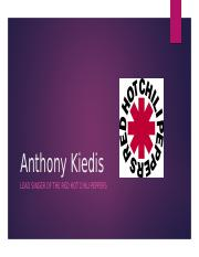 Anthony Kiedis Presentation