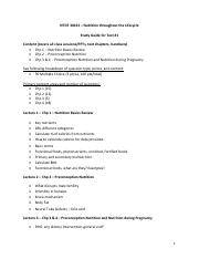 Study Guide for Test 1