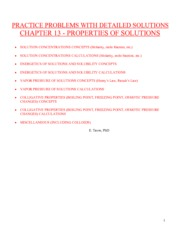CH 13 Problems & Solutions