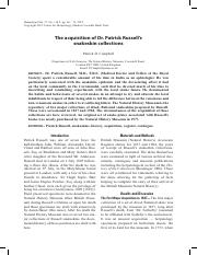 The_acquisition_of_Dr._Patrick_Russell_s