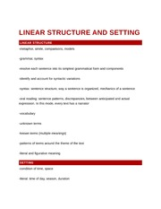 Linear Structure and Setting