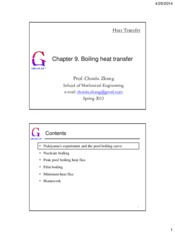 Chapter09.Boiling heat transfer