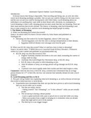 Informative Speech On Diabetes