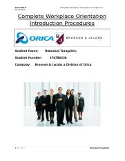 Complete Workplace Orientation  Introduction Procedures.doc