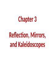 Ch 3- Reflectionmirrors and kaleidoscopes