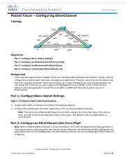 4.2.1.3 Packet Tracer - Configuring EtherChannel.docx