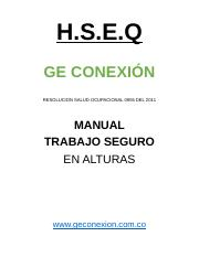 HSEQ manual trabajo en alturas