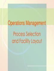 3Slide Ch3- Process selection and facility layout