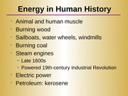 Lecture 10 - Energy Resources