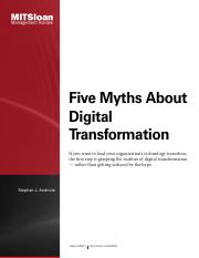 5 Myths About Digital Transformation