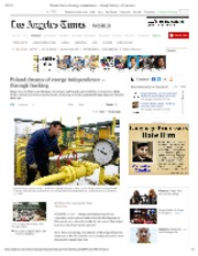 07-15-12 LAtimes Poland dreams of energy independence _ through fracking -