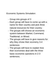 Economic Systems Simulation.docx