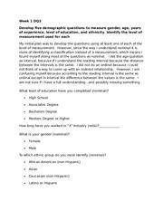 res341 descriptive statistics week 4 Qnt 56, week 4 individual assignment - descriptive statistics and interpretation/qnt56 click link below to buy: use the descriptive statistics and interpretation example to develop an interpretation of the descriptive statistics.