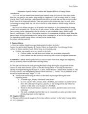 informative essay about caffeine