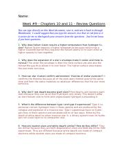 Week 9 - Chapters 10 and 11 - Review Questions.docx