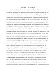 English Annabel Lee Analysis.docx