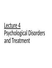Lecture 4. Psychological Disorders and Treatment.pptx