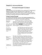 The Analytical Pargraph - An Analysis-4