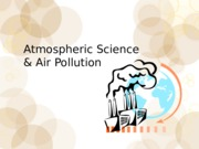 atmospheric science and air polution
