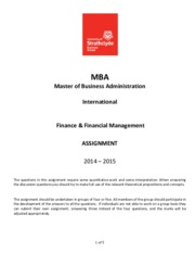 MBA FFM International Assignment 2014-15(2)