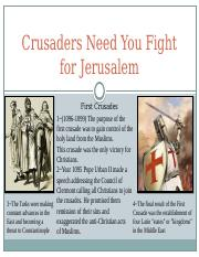 Crusaders Need You Fight for Jerusalem.pptx