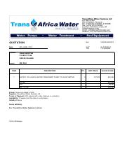 CRJE_quotation for the supply of a grey water treatment plant