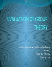 EVALUATION OF GROUP THEORY.pptx