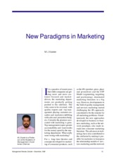 new paradigm  in Marketing