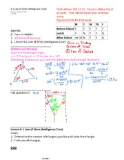 6.1 Law of Sines (Ambiguous Case)