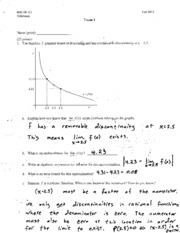 Exam 1 - Oehrtman - Fall 2013 - Solutions