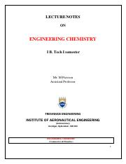 Engineering Chemistry 1st Year Pdf