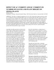 EFFECT OF AC CURRENT AND DC CURRENT ON NUMBER OF LEAVES AND PLANT HEIGHT ON ZINNIA PLANTS.docx