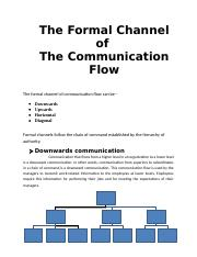 The Formal Channel of The Communication Flow.docx