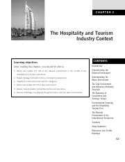 CHAPTER 3   The Hospitality and Tourism Industry Context