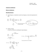 RFIC_Lecture_Note_No2_p13-p26 (Transceiver Architectures)