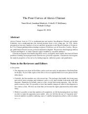 The_Four_Curves_of_Alexis_Clairaut